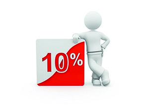 Скидка 10% при упоминании сайта
