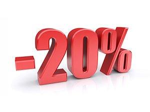 20% скидка для постоянных клиентов